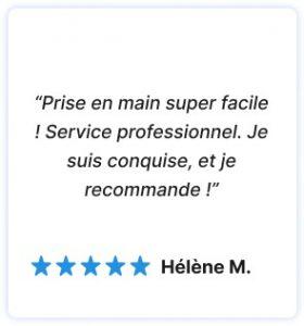 avis 5 étoiles d'un client satisfait du service Hublo. Application Hublo super intuitive